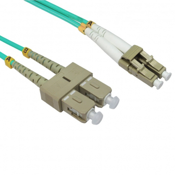 LinITX 0.5m OM4 Multi-Mode Fibre Optic Cable LC-SC - FB4M-LCSC-005