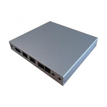 PC Engines ALIX and APU (3LAN+USB) Enclosure Silver