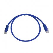 CAT5E UTP 0.5M Blue Patch Cable