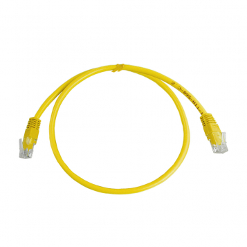 CAT5E UTP 0.5M Yellow Patch Cable
