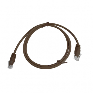 CAT5E UTP 1M Brown Patch Cable