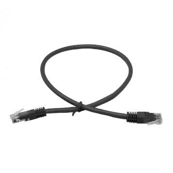 LinITX Pro Series CAT6 RJ45 UTP Ethernet Patch Cable 0.5m Black