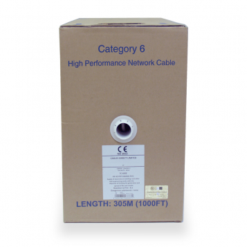 LinITX Cables Direct 305m Cat6 UTP Reel - Solid Core