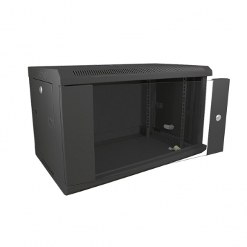 Datacel Wall Mounted Rack Mount Network Cabinet 12u 600x390mm Black
