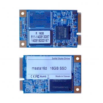PC Engines Dual SSD M-Sata 16GB MLC Phison