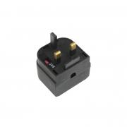 LinITX Pro Series EU to UK Black Converter - 3 Amp fused