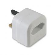 LinITX Pro Series EU to UK White Converter - 3 Amp fused