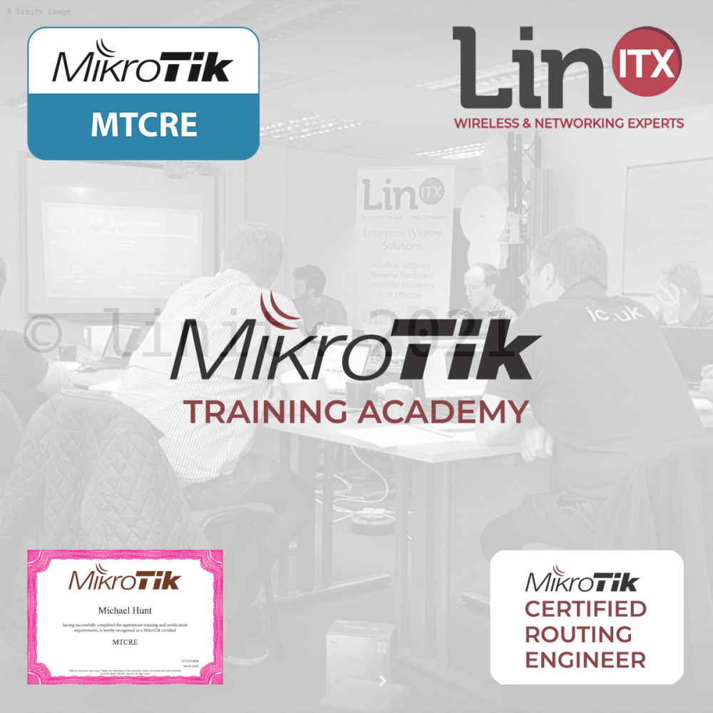 LinITX MikroTik RE1119 MTCRE Training Course - 3rd - 5th Dec 2019