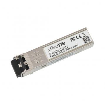 MikroTik RouterBoard 1000BASE-SX SFP Module 1.25G MM 550m 850nm DDM - S-85DLC05D