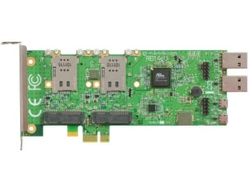 MikroTik RouterBoard 14eU Four Slot miniPCIe to PCIe adapter with SIM Slots and USB