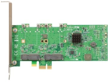 MikroTik RouterBoard 14e Four Slot miniPCIe to PCIe adapter