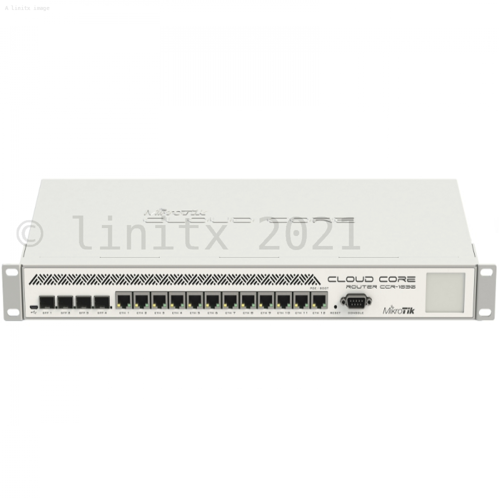 MikroTik Cloud Core Router Firewall VPN 12 x 1Gb Ports 4 x