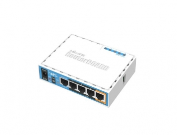 MikroTik RouterBoard hAP AC Lite + UK PSU RB952UI-5AC2ND/UK (RouterOS L4, UK PSU)