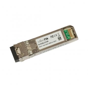 MikroTik SFP+ Module 10G Multi Mode 300m 850nm - S+85DLC03D
