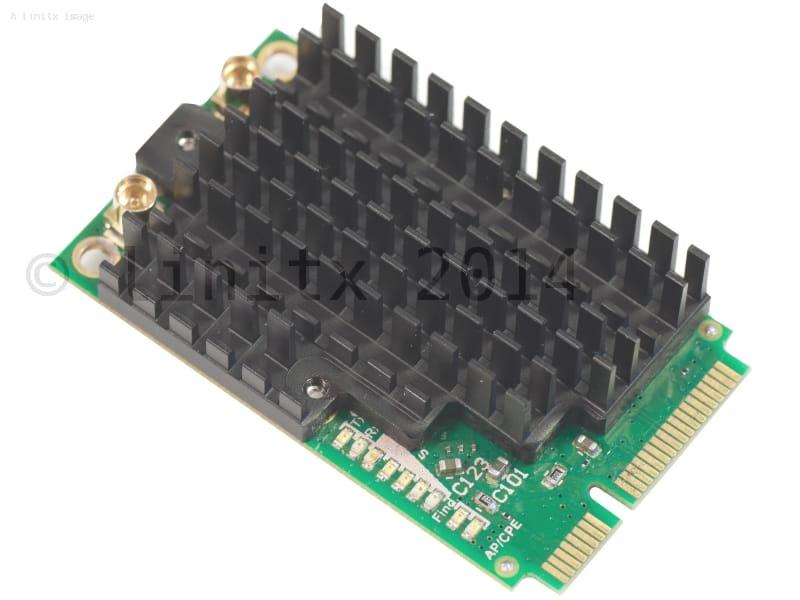 MikroTik R11e-2HPnD 802.11b/g/n Mini PCI Express Card: https://linitx.com/product/mikrotik-r11e2hpnd-80211bgn-mini-pci-express-card/14024