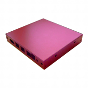 PC Engines Anodised APU Enclosure (3 LAN + USB + 6 SMA) - Red