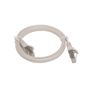 Pro Series Flat Cat7 RJ45 UTP Ethernet Patch Cable 1m Grey