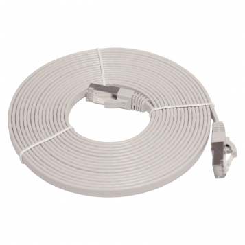 Pro Series Flat Cat7 RJ45 UTP Ethernet Patch Cable 5m Grey
