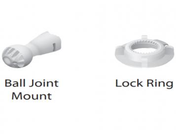 REFURBISHED - Lock Ring and Ball Joint Mount for 19dBi Nanobeam