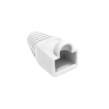 RJ45 Connector Snagless Boot - White