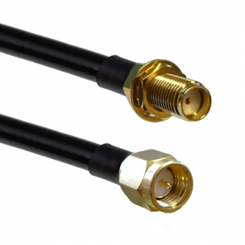 Solwise Reverse SMA Plug/100cm HDF200/RESMA Skt