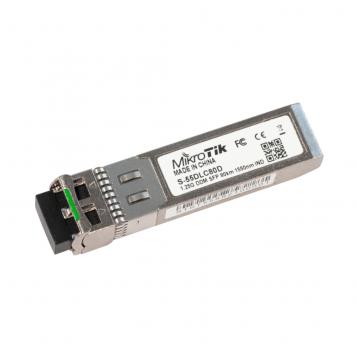 MikroTik SFP module 1.25G SM 80km 1550nm - S-55DLC80D