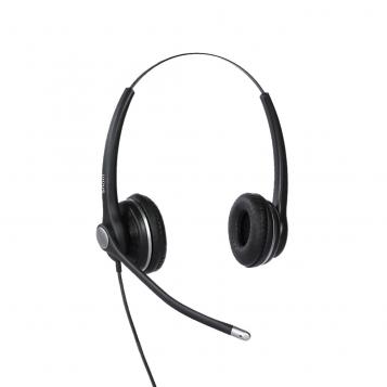 SNOM Wideband Wired Binaural Headset A100D