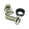 LinITX Server Rack Cage Nuts Silver - 50 Pack