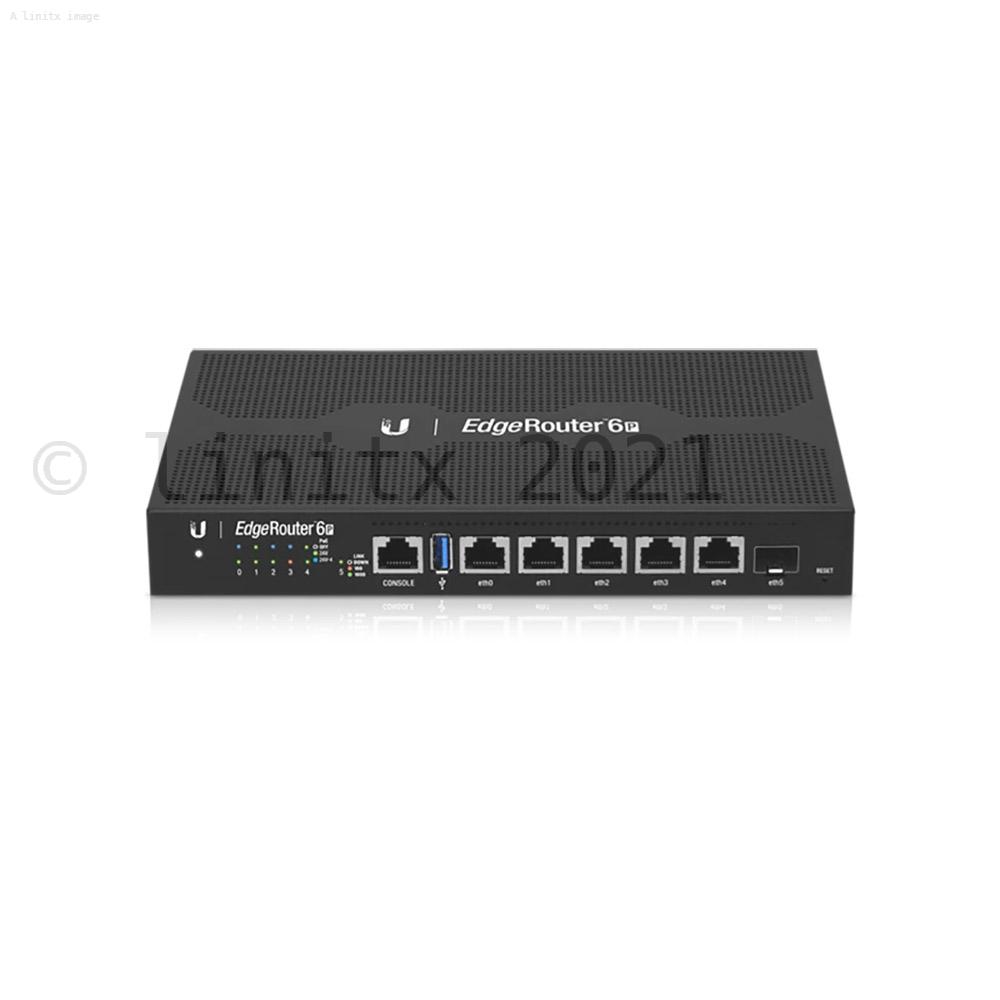 Ubiquiti Edgerouter 6 Port Gigabit Poe Router With Sfp
