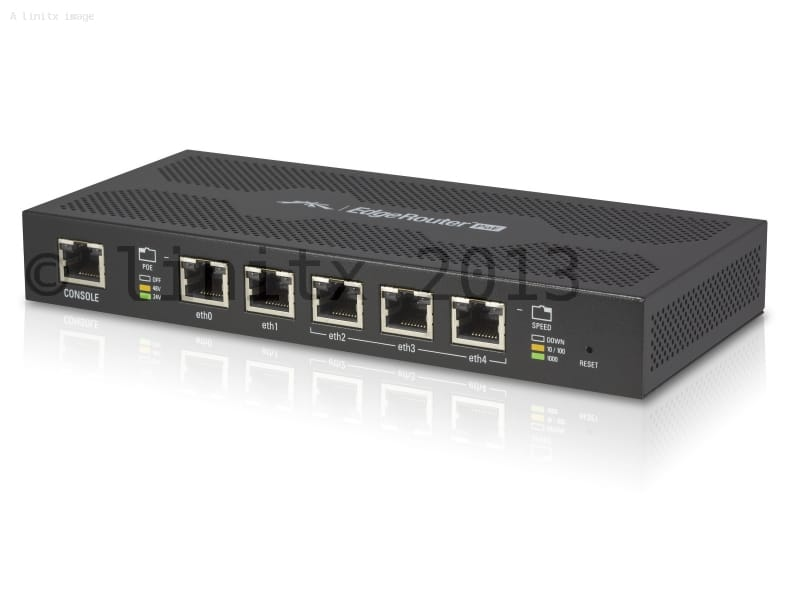 Ubiquiti EdgeMAX EdgeRouter POE 5 Port Router with PoE | LinITX ...