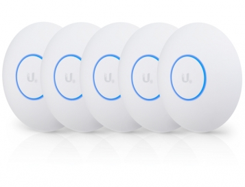 Ubiquiti UniFi 802.11AC Wave 2 Access Point with Dedicated Security Radio 5 pack (No PoE Injectors) - UAP-AC-SHD-5