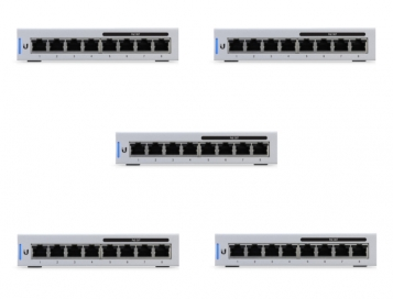 Ubiquiti UniFi 8 Port 60W PoE Gigabit Network Switch US-8-60W-5 5 Pack