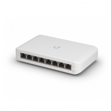 Ubiquiti UniFi 8 Port PoE+ Gen2 Gigabit Network Switch - USW-Lite-8-POE