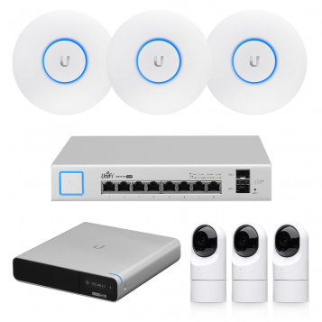 Ubiquiti UniFi Protect G3 Flex CCTV Cameras  NVR + WiFi Installer Kit