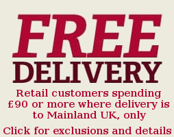Free Delivery - Terms apply. UK mainland only.